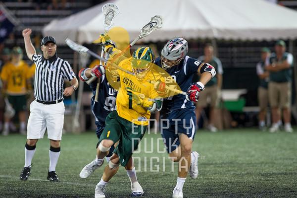 US Lacrosse vs Australian Mens Lacrosse Squad 2014