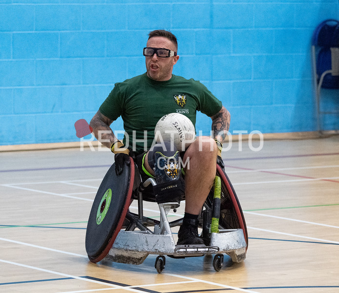Northampton Saints Wheechair Rugby friendly vs Norfolk Knights at Wymondham Leisure Centre, 14 March 2020