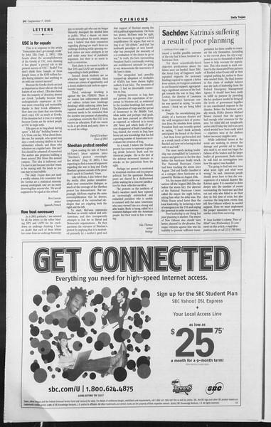 Daily Trojan, Vol. 156, No. 11, September 07, 2005