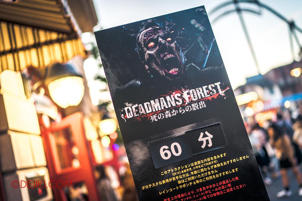 Universal Studios Japan - Halloween Horror Nights / DEADMAN'S FOREST 60 minutes wait time