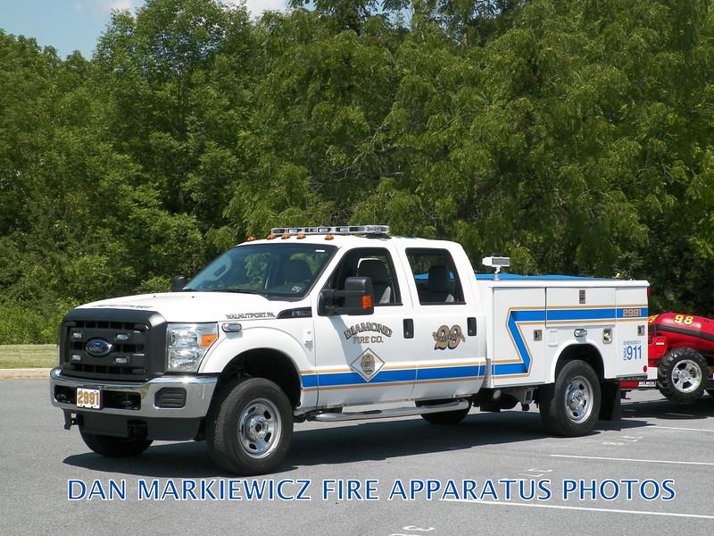 DIAMOND FIRE CO. UNIT 2991 2015 FORD/KME UTILITY