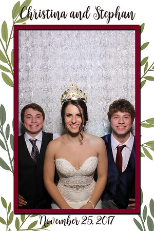 Christina and Stephan's Wedding Mirror Booth