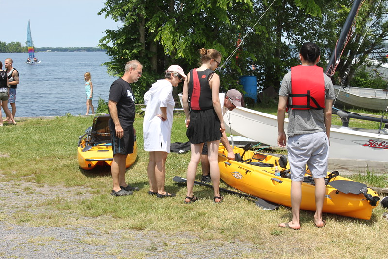 Boat Works Ltd. Rep. Rob Jerry showing off a Hobie Kayak