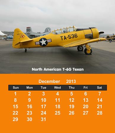Warbirds 2013 Cd Case Calendar