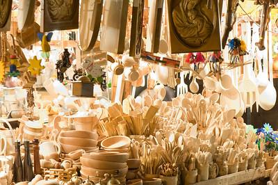 People shopping at local market, Zakopane, Tatra Mountains, Podhale Region, Poland