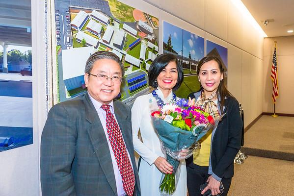 Frances Nguyen School Board Trustee Installation