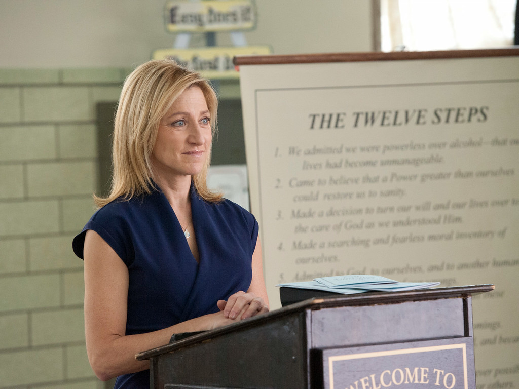 """. This publicity image released by Showtime shows Edie Falco as Jackie Peyton in \""""Nurse Jackie.\"""" Falco was nominated for an Emmy Award for best actress in a comedy series on Thursday, July 10, 2014. The 66th Primetime Emmy Awards will be presented Aug. 25 at the Nokia Theatre in Los Angeles. (AP Photo/Showtime, David M. Russell)"""
