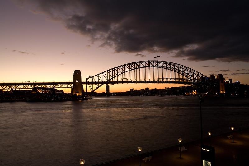 Skyline von Sydney in der Abenddämmerung