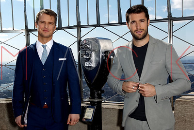 """NEW YORK, NY - MARCH 03:  ABC's """"Time After Time"""" Co Star Freddie Stroma and Josh Bowman visit The Empire State Building."""
