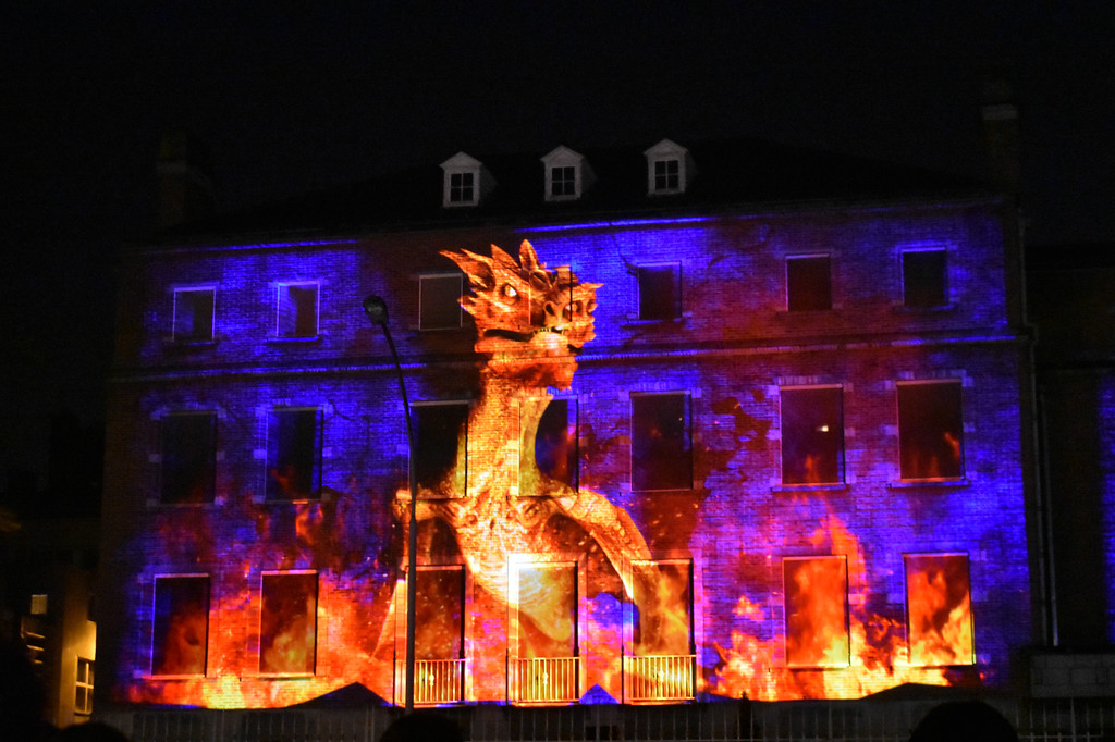 Ghent Light Festival art installation Forgotten by Belgian artist Create