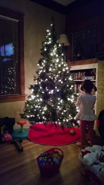 Maddie v. Decorating the Tree - Nov 2014