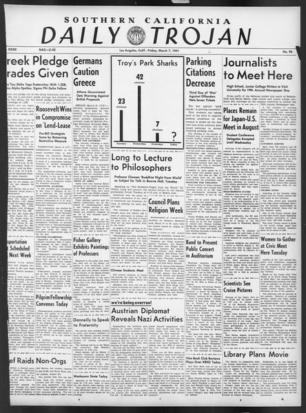 Daily Trojan, Vol. 32, No. 96, March 07, 1941