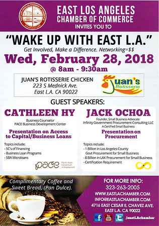 WAKE UP WITH EAST L.A. BREAKFAST MIXER - 02.28.18