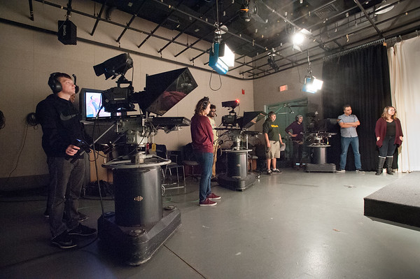 10/18/18 Students Working in Communication Department Television Studio