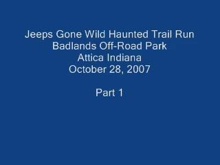 Haunted Trail Run: Video's