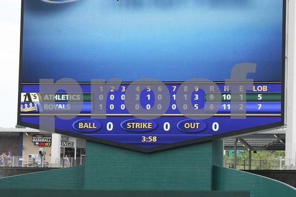 MLB-Kansas City Royals vs Oakland Athletics 7-18-10 Camera 2 of 2