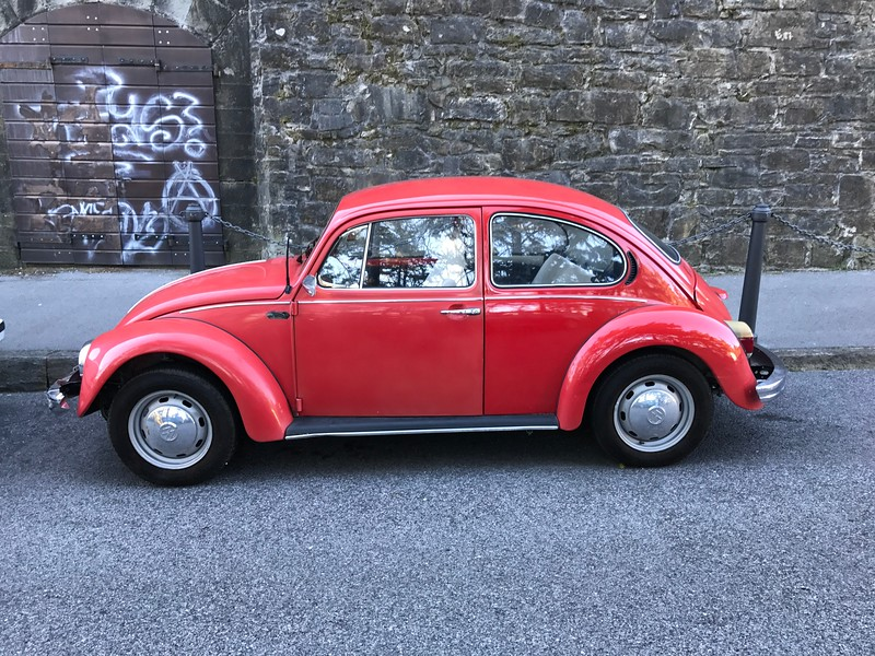 Red Volkswagen Beetle snapped in Trieste, Italy
