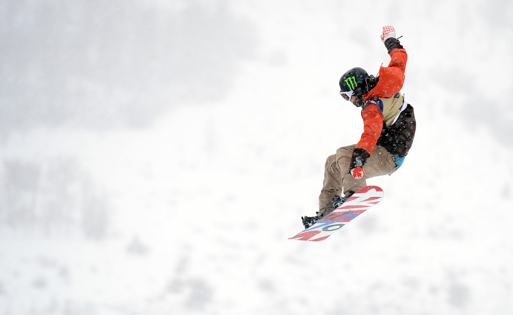 . VAIL, CO. - MARCH 1: Dracy Sharpe from Canada is in action during the men\'s slopestyle final of Burton U.S. Open. March 1, 2013. Vail, Colorado. (Photo By Hyoung Chang/The Denver Post)