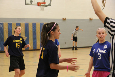 Girls HCYP 7th Grade Navy Basketball -2014 Coach Karen