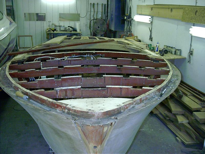 Front deck battens removed.