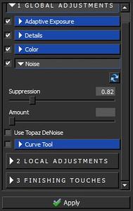 Topaz Adjust Review - Hatley Castle - Noise Panel
