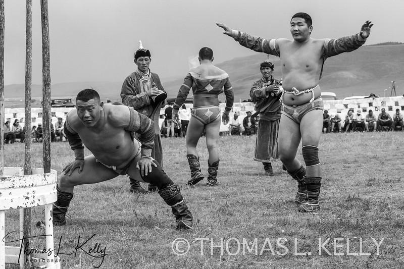 Wrestling Match at Naadam Festival