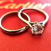 0.78ct Round Brilliant Diamond Bridal Set by Cartier 2