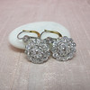 5.54ctw Edwardian Old European Cut Diamond Cluster Earrings 0
