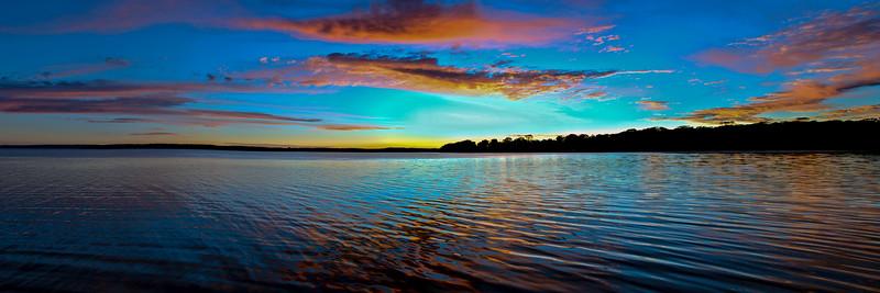 Red Cloud coastal ocean sunrise seascape. Queensland