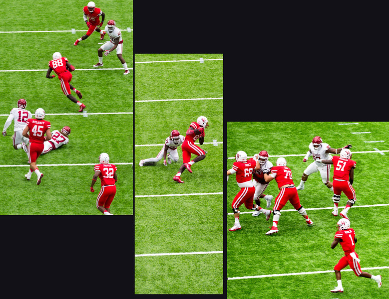 UH quarterback Greg Ward connect with Dunbar for a 19 yard gain.