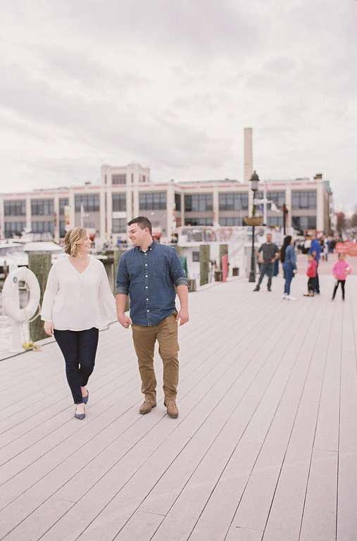 Lauren and Ty's Old Town Alexandria engagement photos were shot in early April. This photo is right next to the Torpedo Factory on the pier.