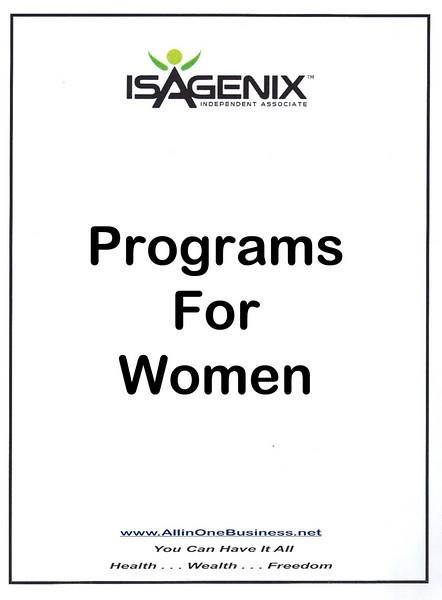 Programs for Women