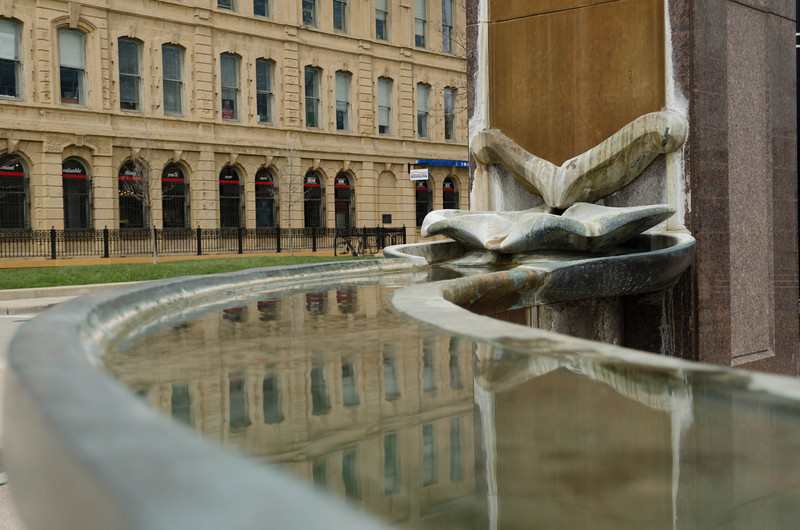 water feature at E Washington, Madison, WI