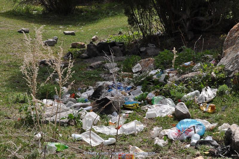 rubbish in nat. reserve.