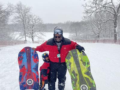 20210131 Snow Sledding