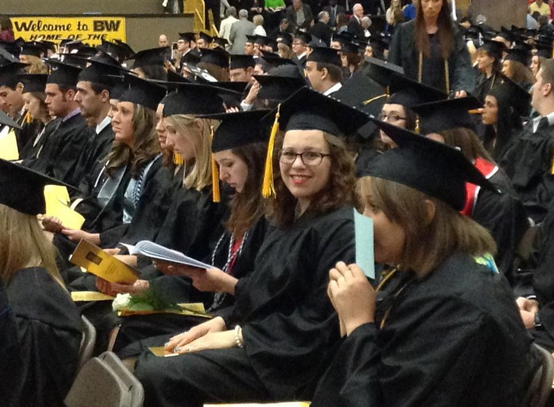 Graduation from Baldwin Wallace University - May 13, 2013  -- BS in Mathematics and Music
