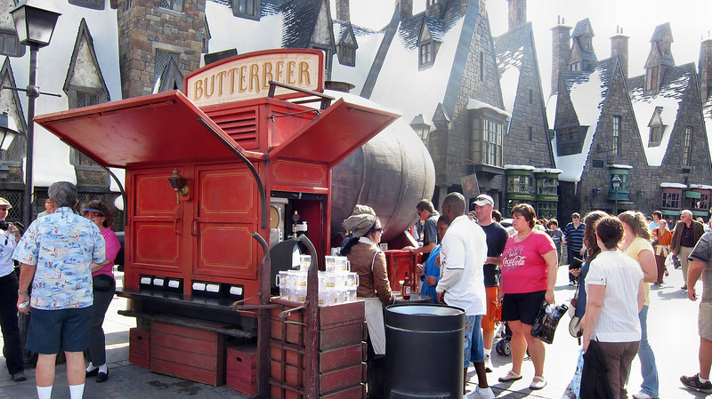 Universal Orlando's Islands of Adventure featuring Harry Potter attraction - February 2011