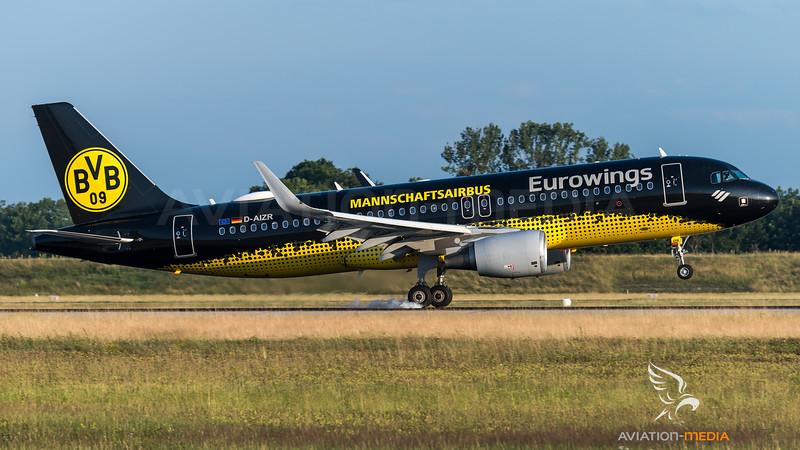 Eurowings / Airbus A320-214 / D-AIZR / BVB Mannschaftsbus Livery