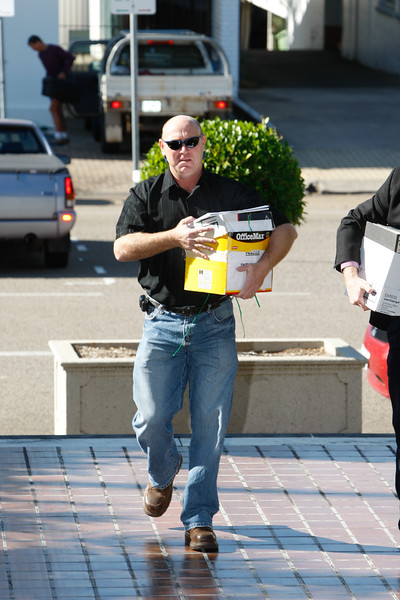 04 August 2008 Townsville, QLD - Shane Tunstead (son of missing man James Tunstead) arrives at the Kaz II inquest at Townsville Magistrates court - Photo: Cameron Laird (Ph: 0418 238811)