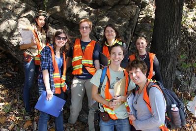 Students Studying Rocks, Hometown Hill, SR309, Tamaqua (10-24-2014)