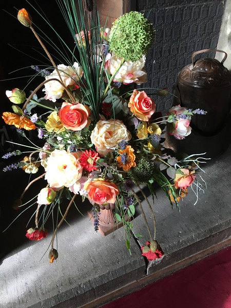 Lovely bouquet inside castle in Cochem