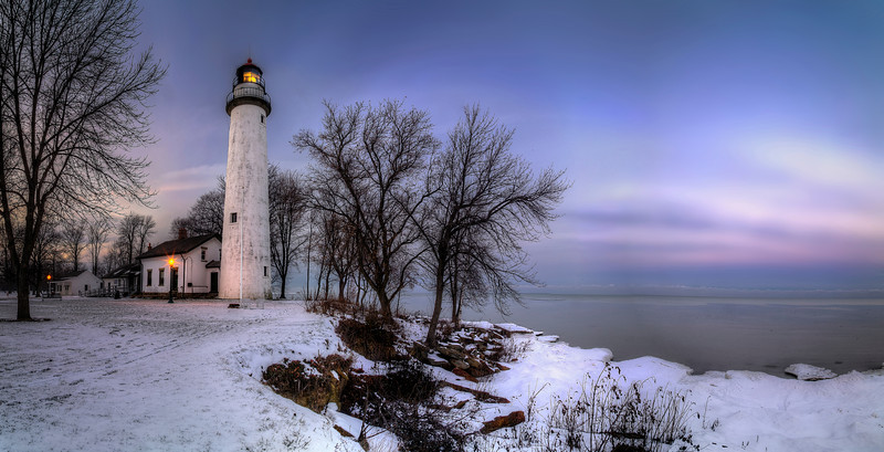 Winter Evening at Point aux Barques