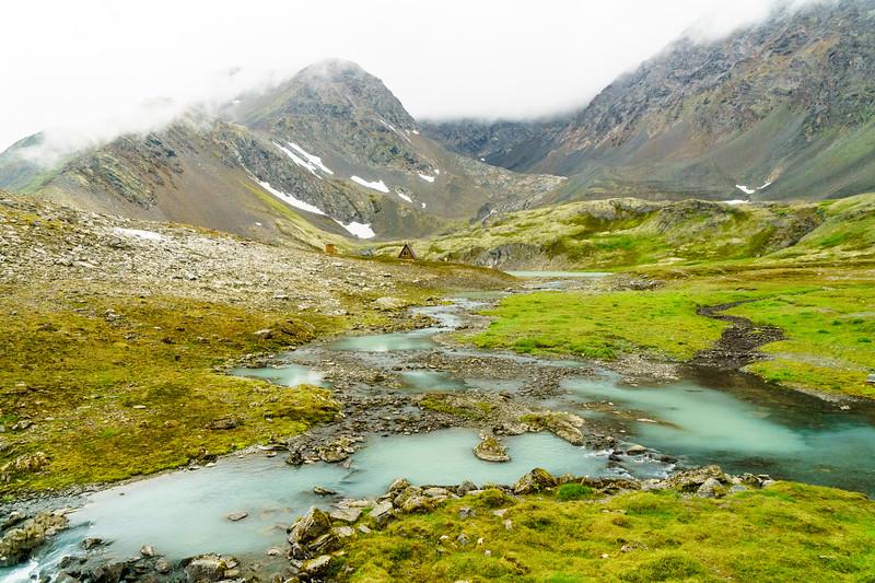 Hard to get more idyllic than the Crow Pass Hut near Girdwood, Alaska.