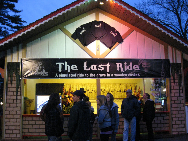 The Last Ride burial simulator attraction.