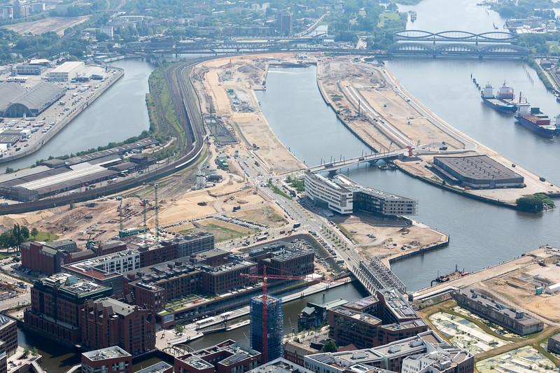 Baakenhafen Hamburg Hafen City Luftaufnahme