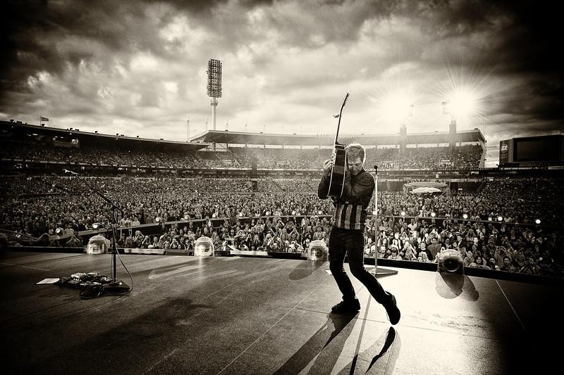 . December 11, 2013 - Jon Bon Jovi performs on stage with his band Bon Jovi at AAMI Stadium in Adelaide, Australia on December 11, 2013.  (Photo credit: David Bergman / Bon Jovi)