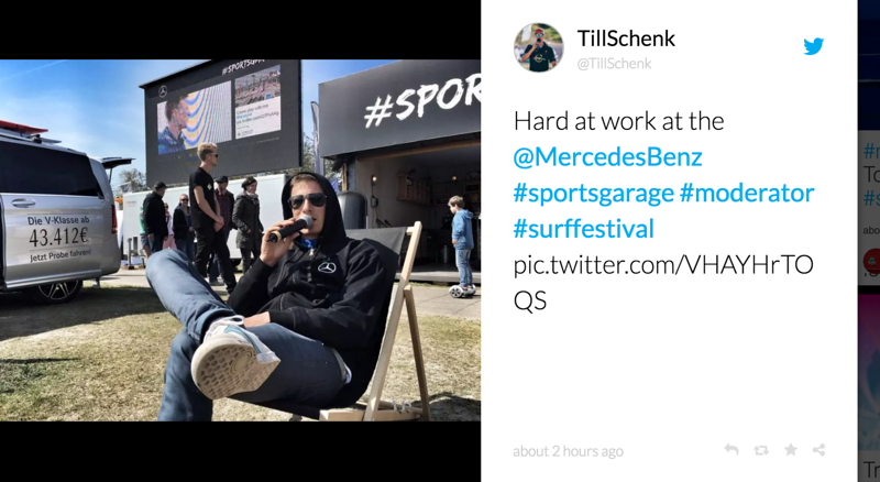 Mercedes + World Windsurfing Global tour