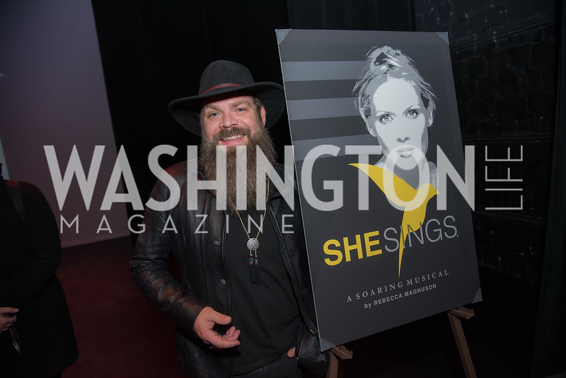 She Sings, Rebecca Magnuson, Premiere in Washington, DC, November 16, 2018.  Photo by Ben Droz.