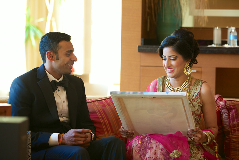 Le Cape Weddings - Indian Wedding - Day 4 - Megan and Karthik Exchanging Gifts 13.jpg