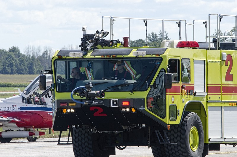 Airport Crash Fire Rescue at the ready